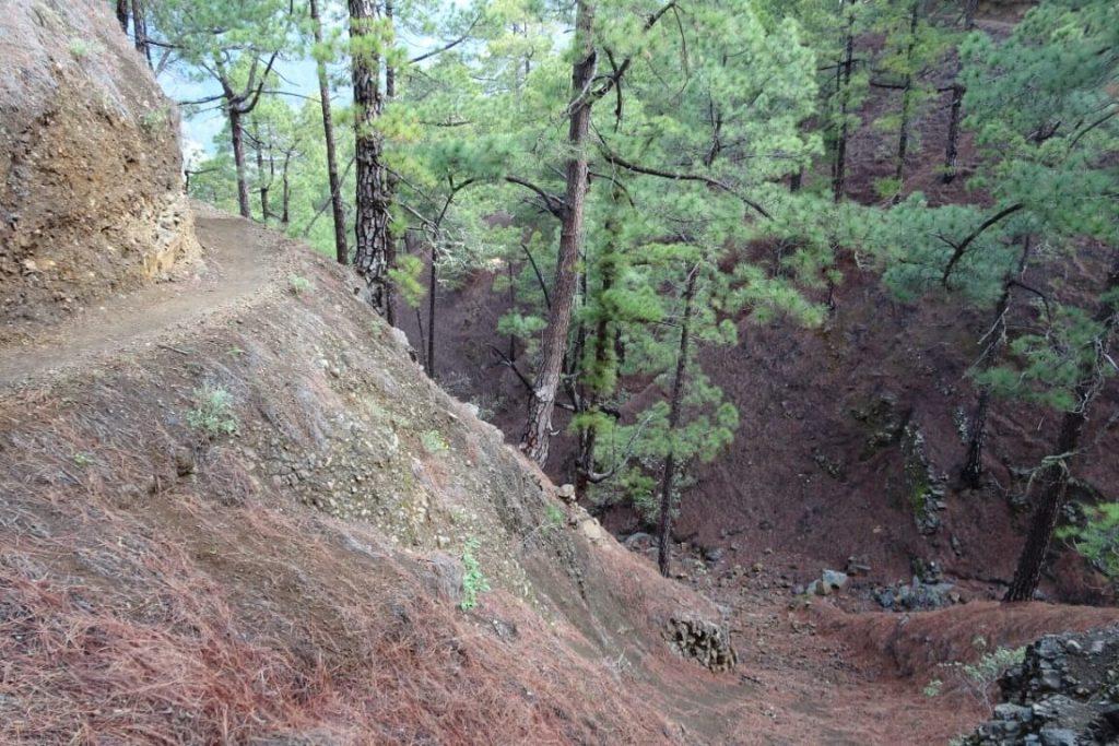 La palma la cumbrecita steile afgrond