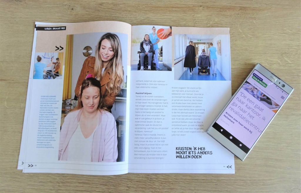 Pfzw loiza lamers spread bedrijfsmagazine tekstschrijver