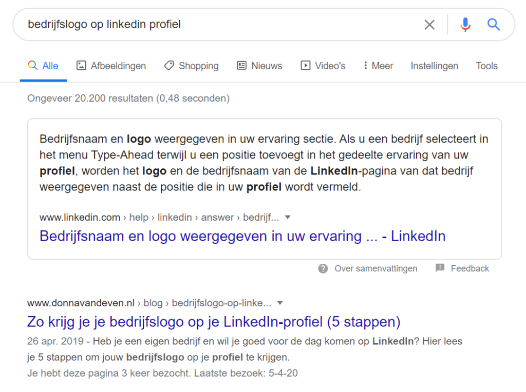 Google linkedin